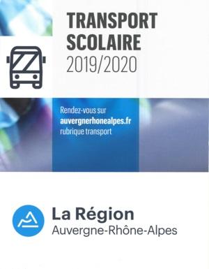TRANSPORT SCOLAIRE 2019/2020 – INSCRIPTIONS