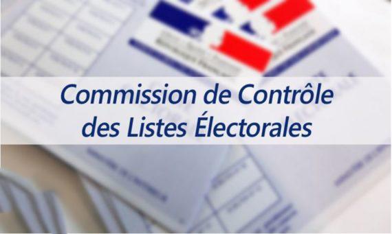 AVIS – COMMISSION DE CONTRÔLE DES LISTES ÉLECTORALES