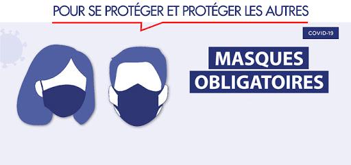 LIEUX CLOS RECEVANT DU PUBLIC – PORT DU MASQUE OBLIGATOIRE